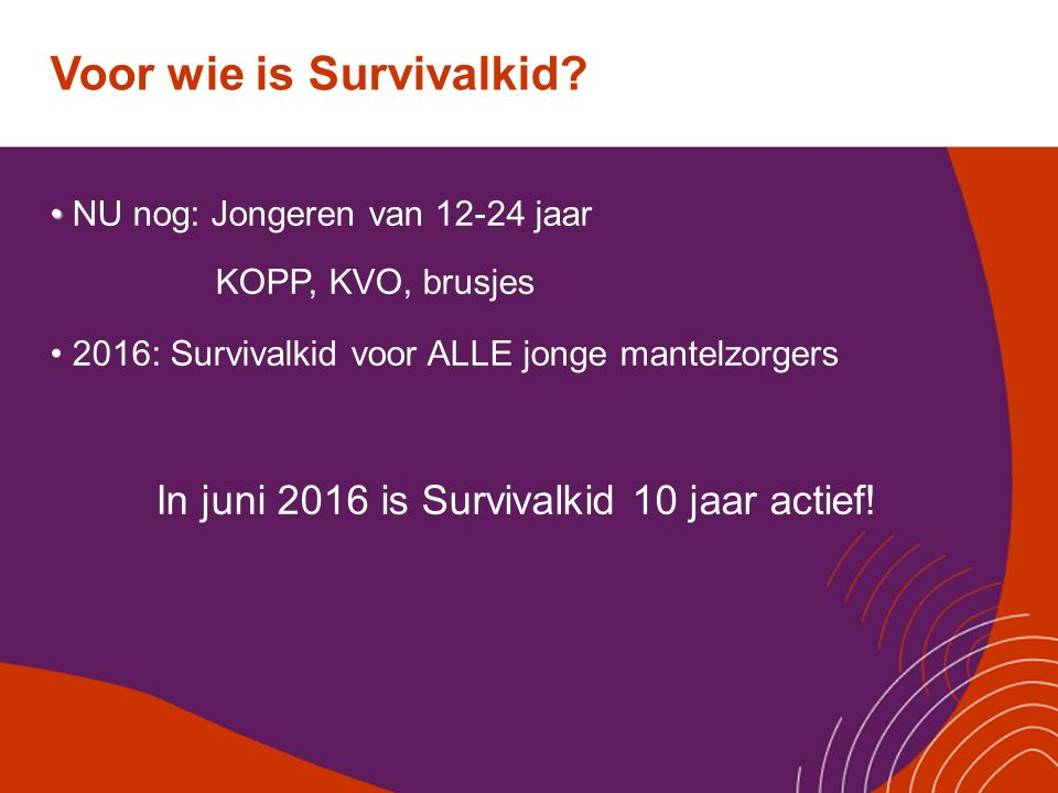 Voor wie is Survivalkid