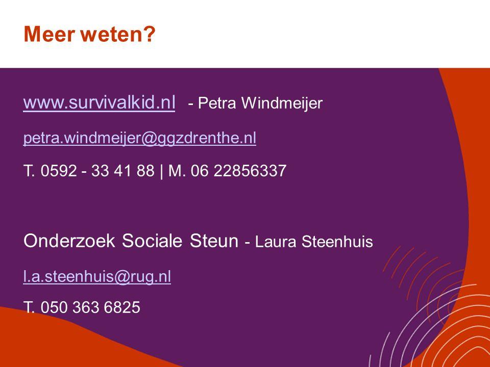 Meer weten www.survivalkid.nl - Petra Windmeijer