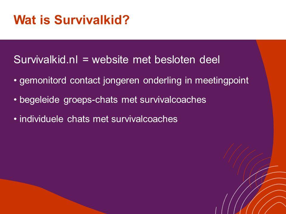Wat is Survivalkid Survivalkid.nl = website met besloten deel