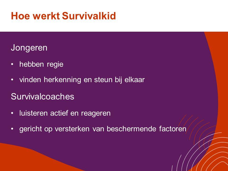 Hoe werkt Survivalkid Jongeren Survivalcoaches hebben regie