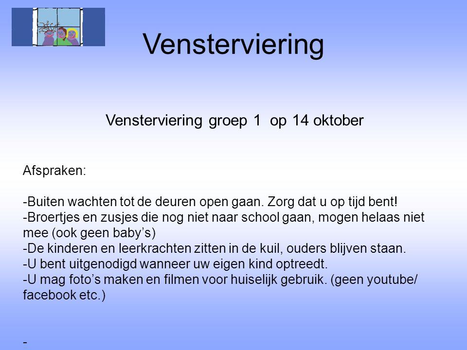 Vensterviering groep 1 op 14 oktober