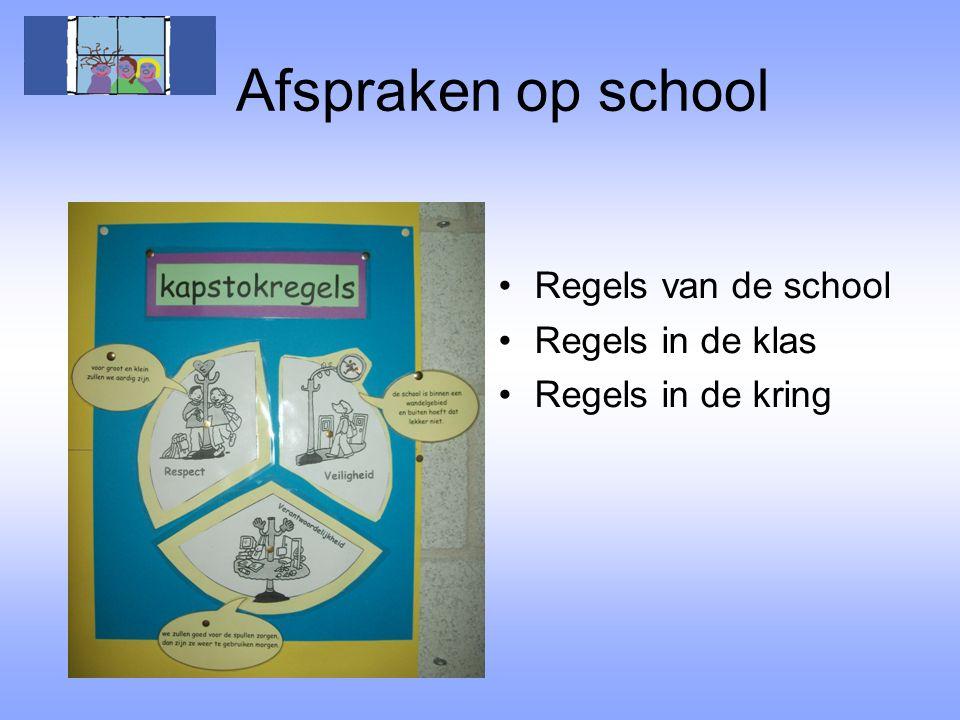 Afspraken op school Regels van de school Regels in de klas
