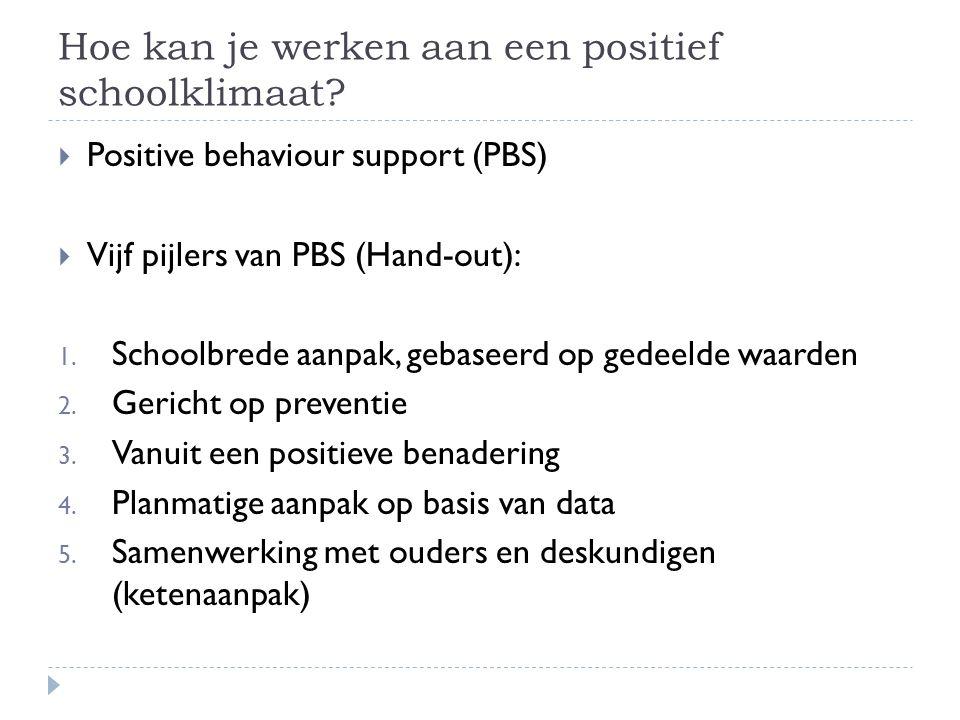 Hoe kan je werken aan een positief schoolklimaat