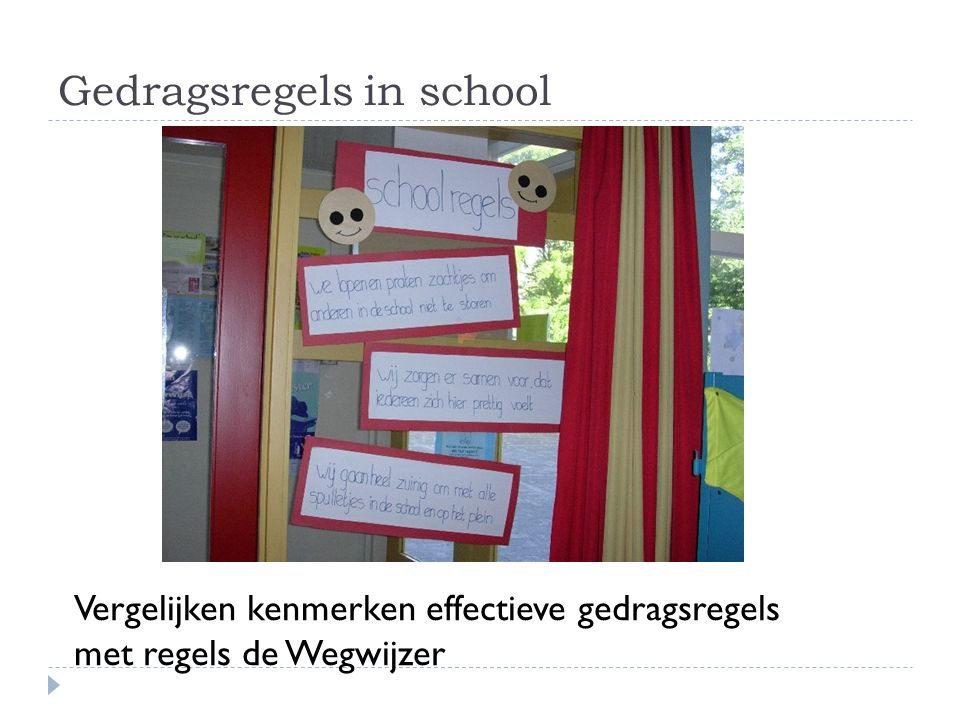 Gedragsregels in school
