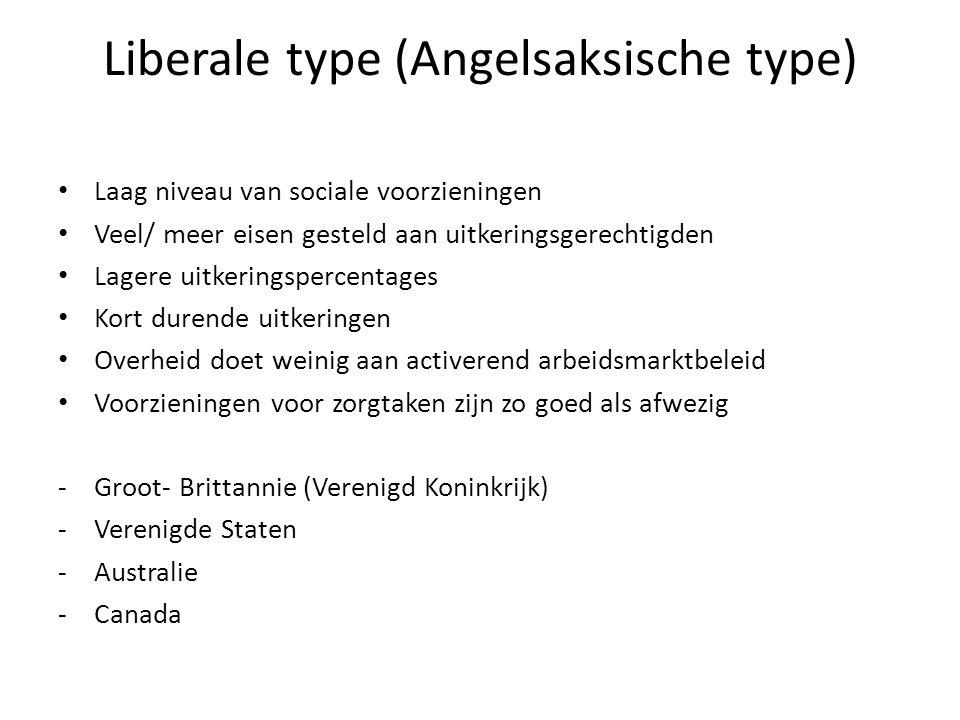 Liberale type (Angelsaksische type)