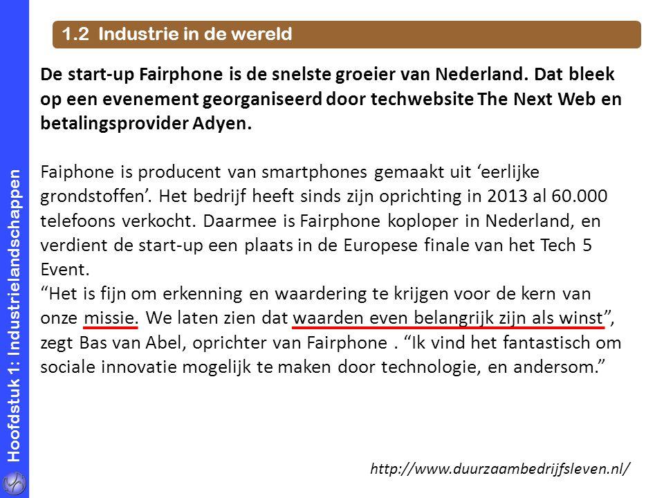 1.2 Industrie in de wereld