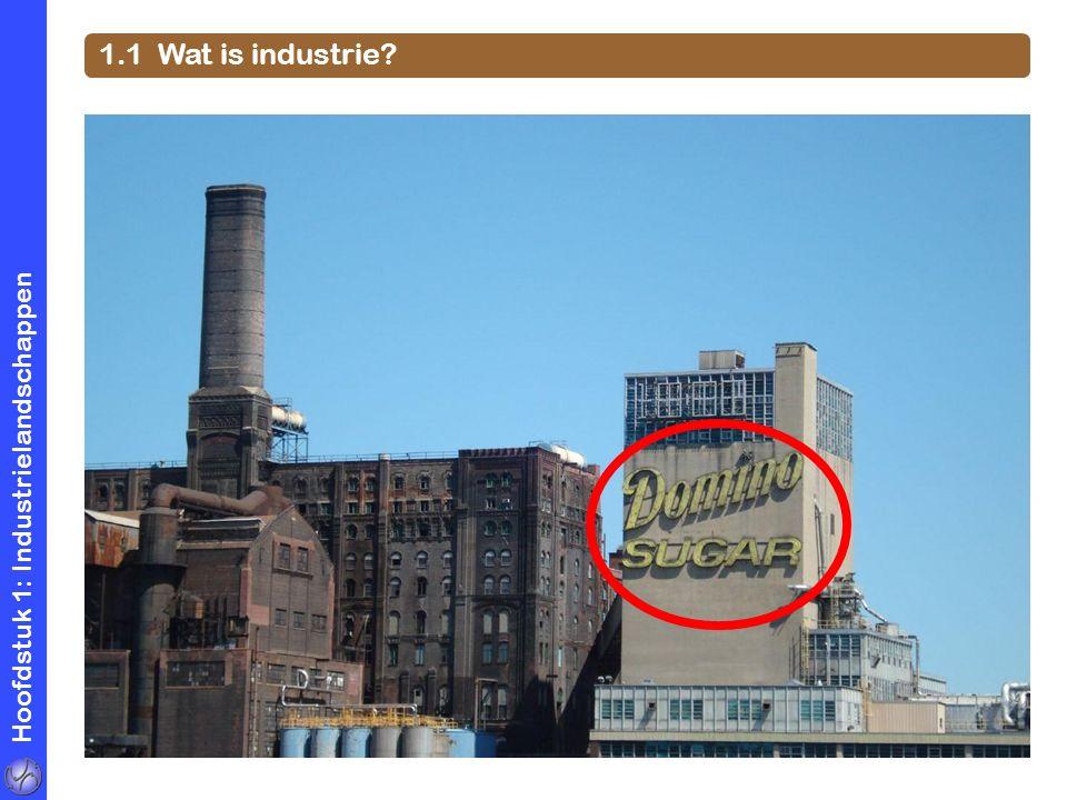 1.1 Wat is industrie Hoofdstuk 1: Industrielandschappen