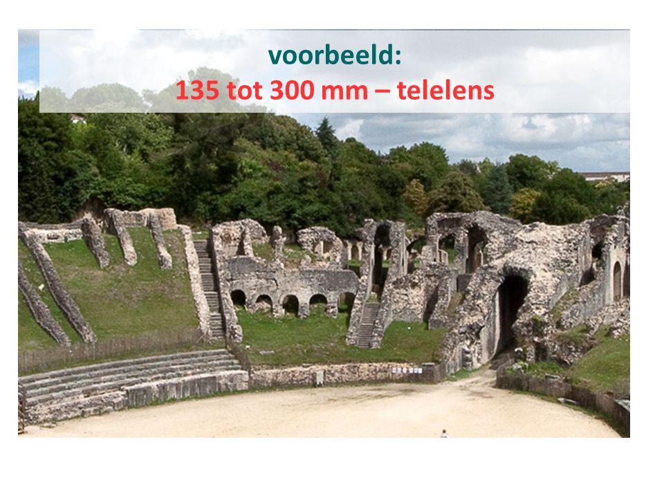 voorbeeld: 135 tot 300 mm – telelens