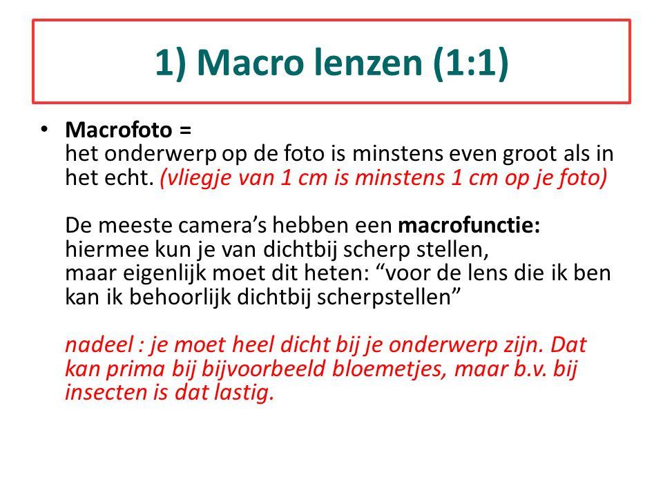 1) Macro lenzen (1:1)