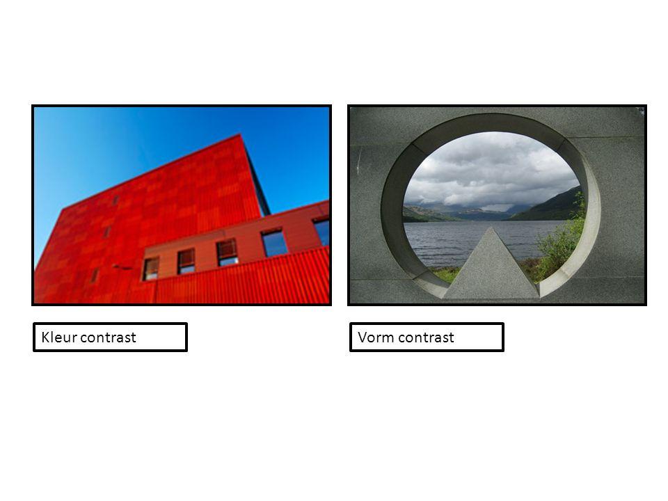 Kleur contrast Vorm contrast