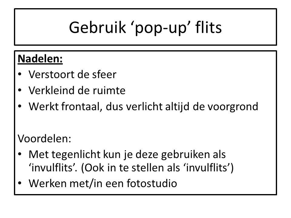 Gebruik 'pop-up' flits