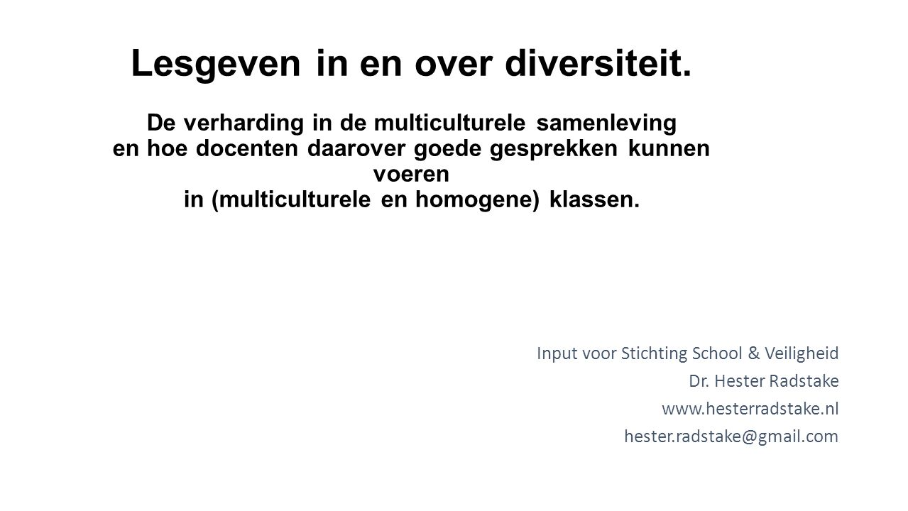 Lesgeven in en over diversiteit