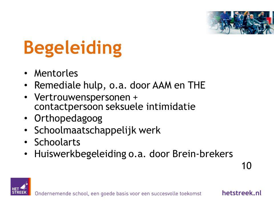 Begeleiding Mentorles Remediale hulp, o.a. door AAM en THE