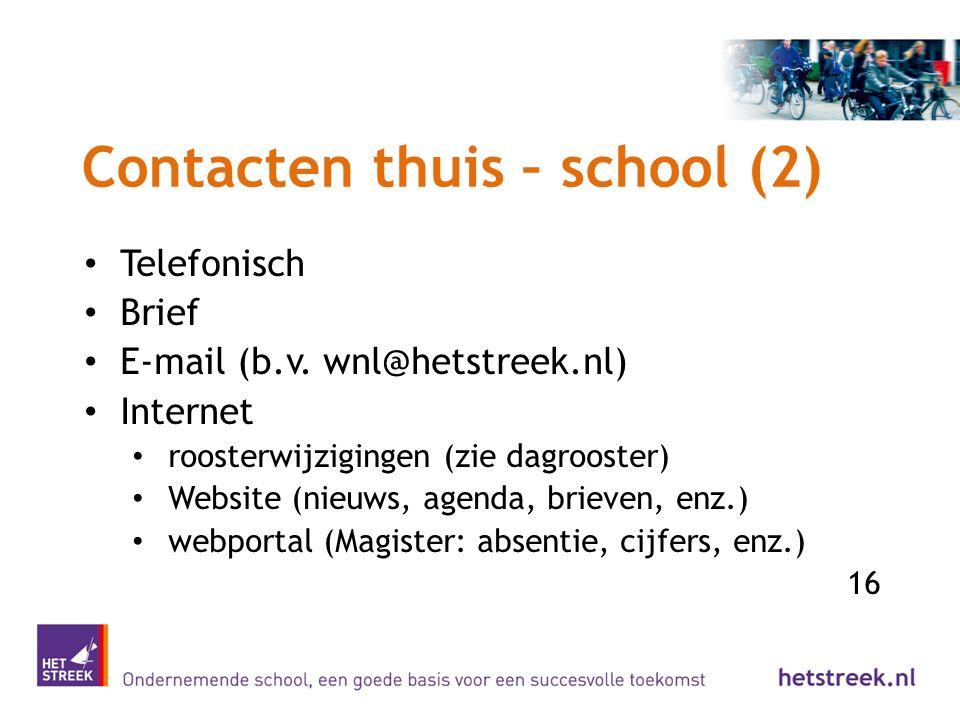 Contacten thuis – school (2)