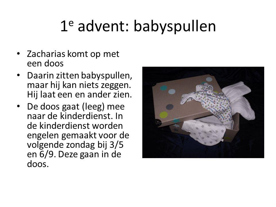 1e advent: babyspullen Zacharias komt op met een doos