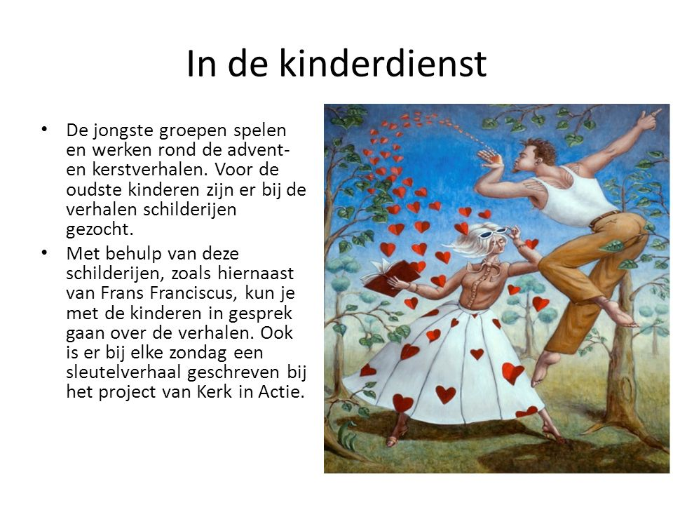In de kinderdienst