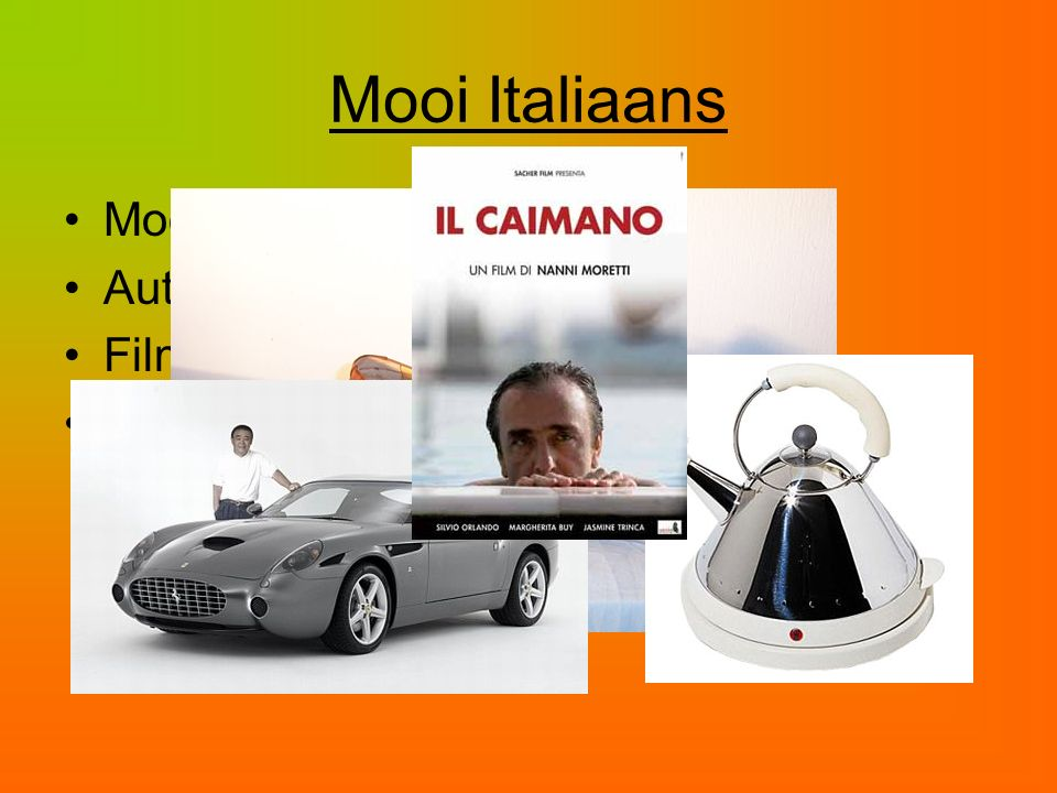 Mooi Italiaans Mode Auto's Films Design