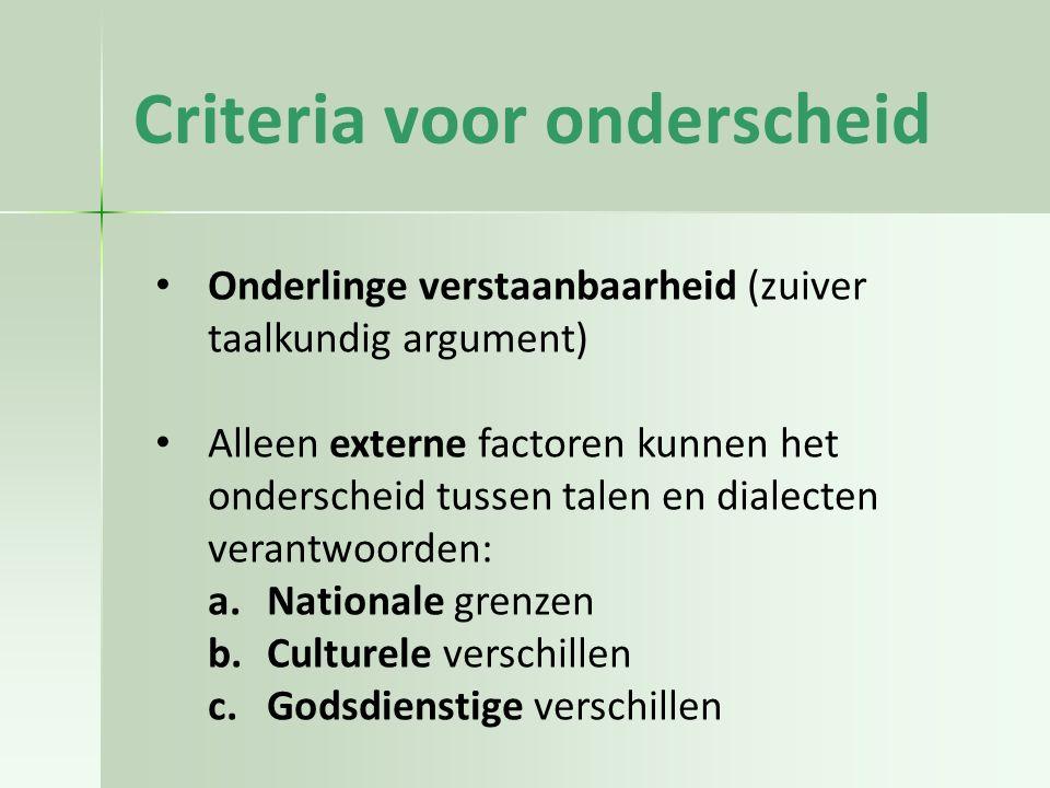Criteria voor onderscheid