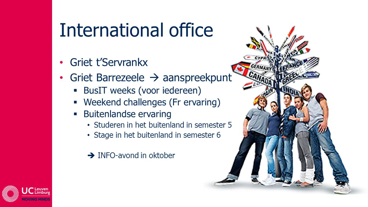 International office Griet t'Servrankx
