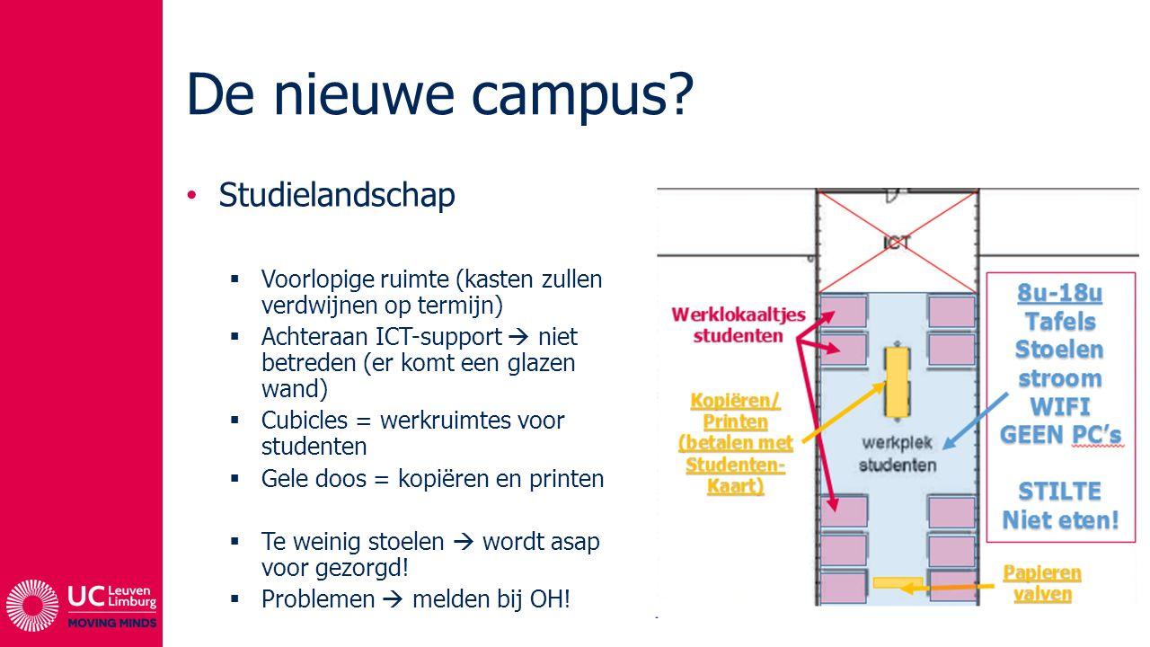 De nieuwe campus Studielandschap