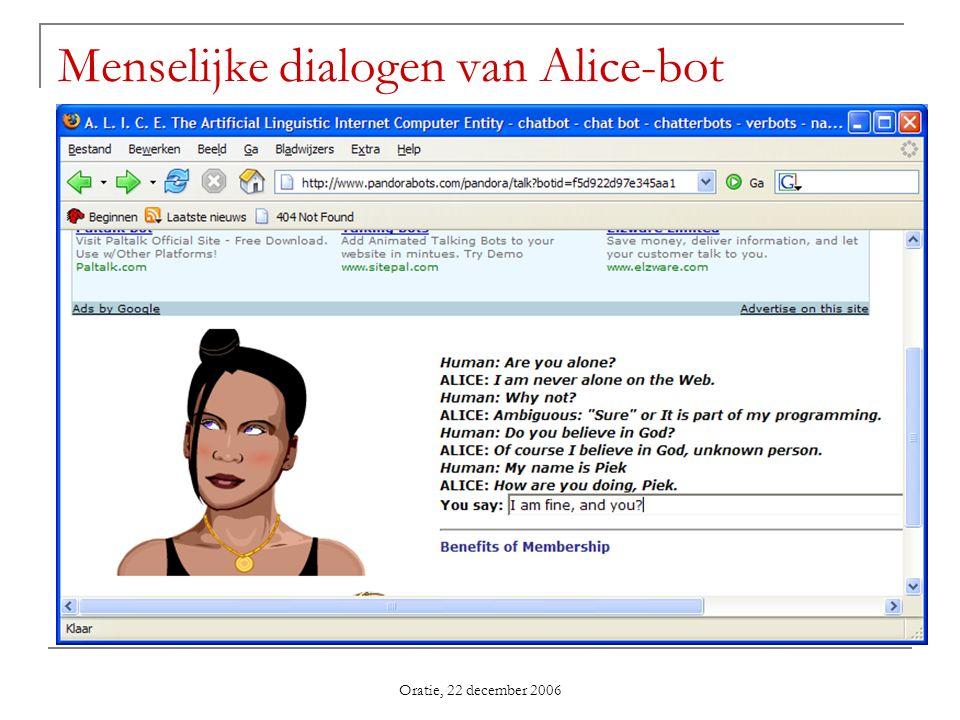 Menselijke dialogen van Alice-bot