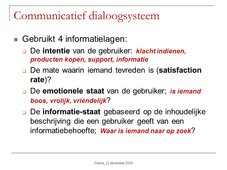Communicatief dialoogsysteem