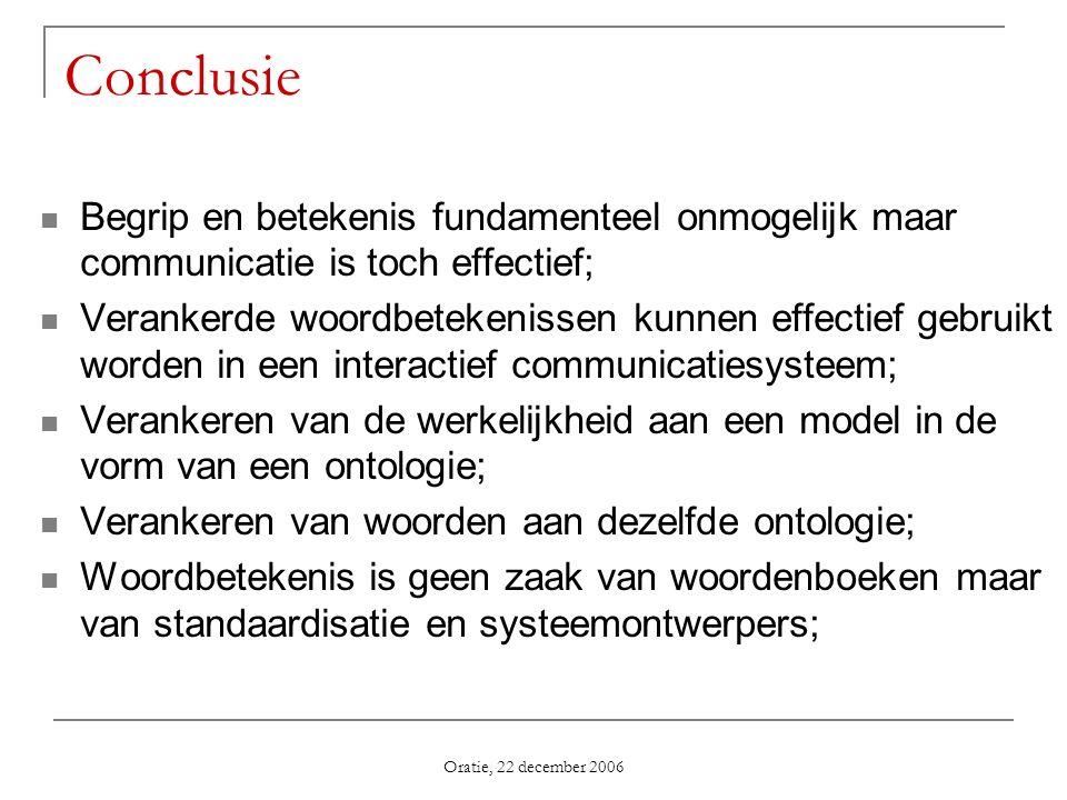 Conclusie Begrip en betekenis fundamenteel onmogelijk maar communicatie is toch effectief;