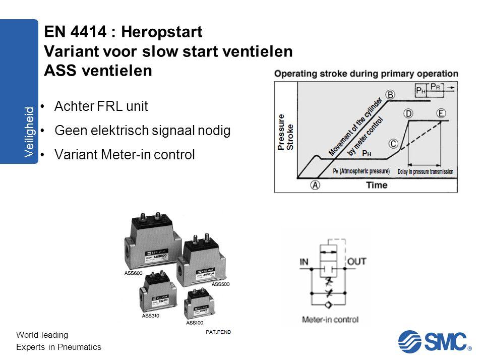 EN 4414 : Heropstart Variant voor slow start ventielen ASS ventielen