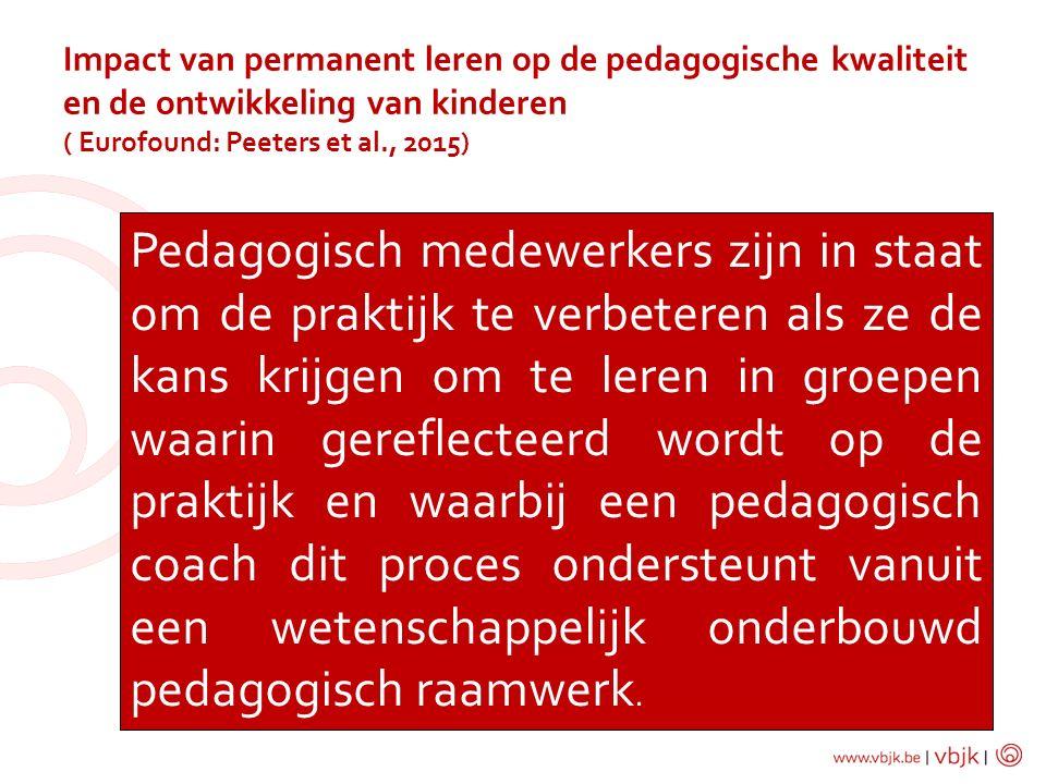 Impact van permanent leren op de pedagogische kwaliteit en de ontwikkeling van kinderen ( Eurofound: Peeters et al., 2015)