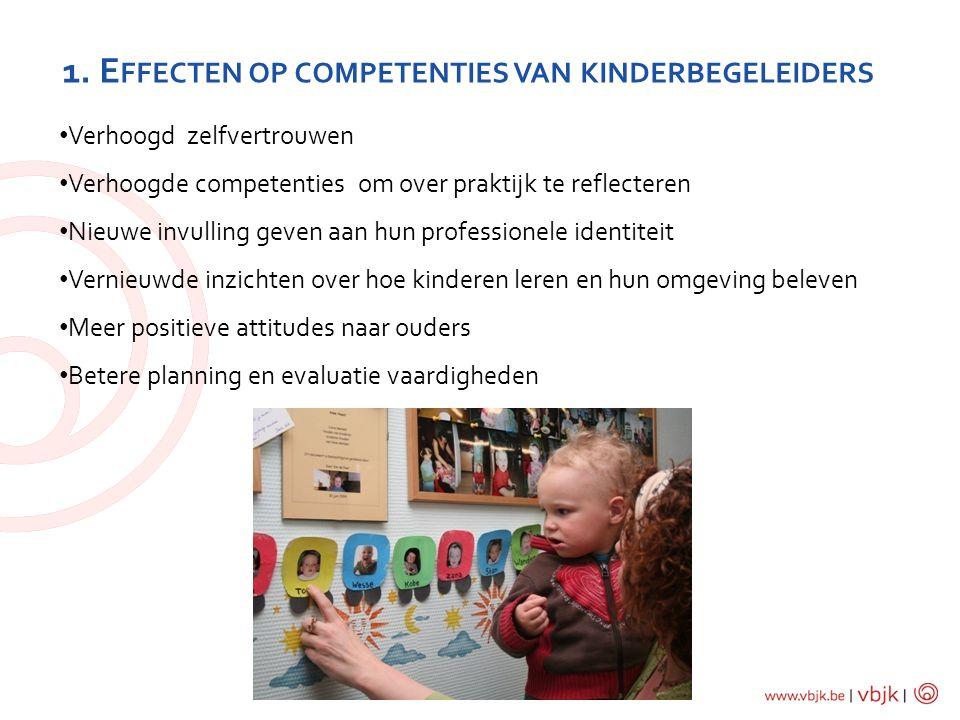 1. Effecten op competenties van kinderbegeleiders