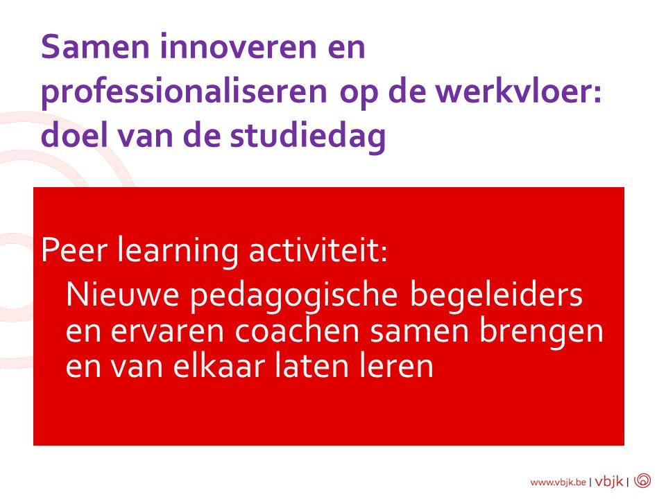 Samen innoveren en professionaliseren op de werkvloer: doel van de studiedag