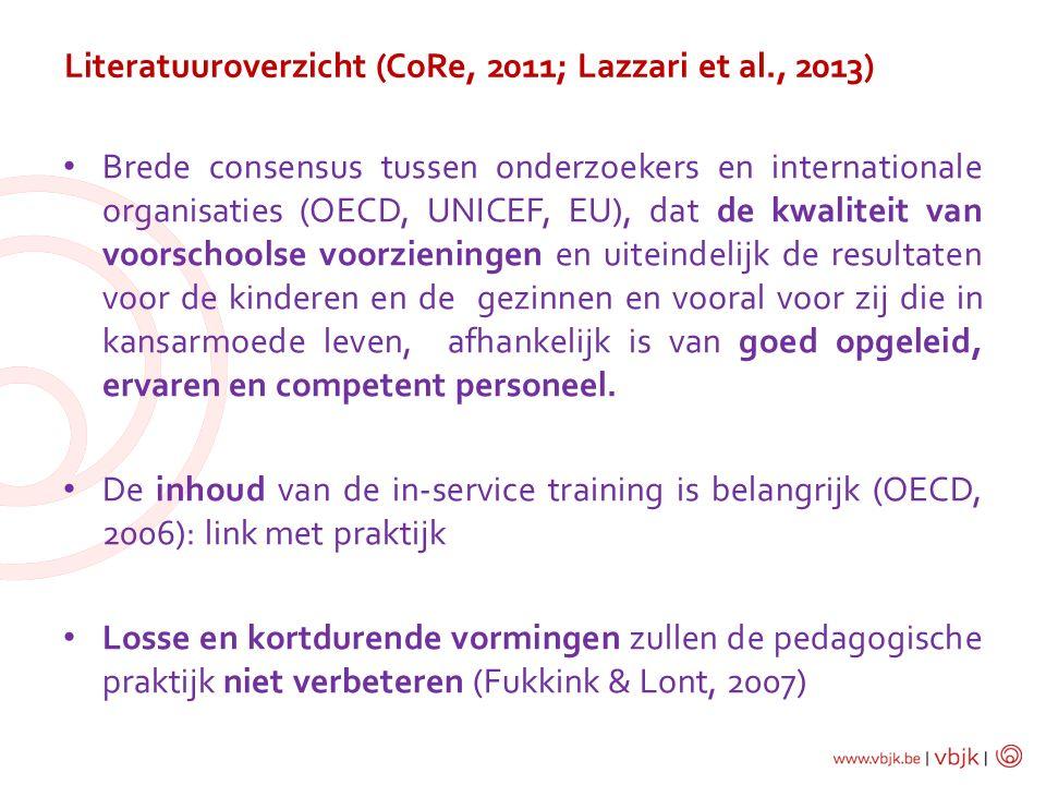 Literatuuroverzicht (CoRe, 2011; Lazzari et al., 2013)