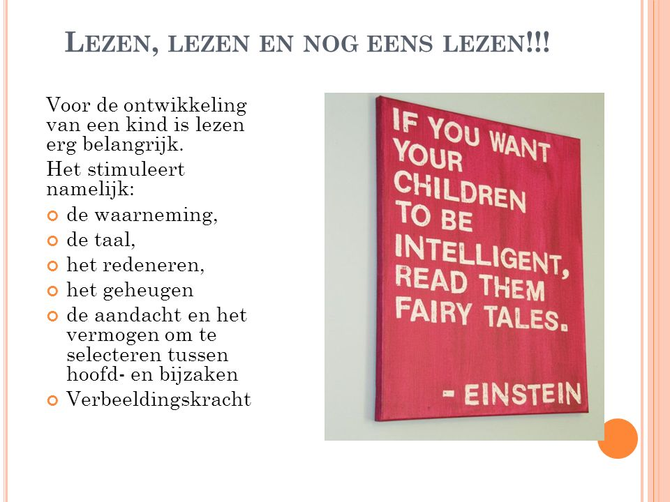 Lezen, lezen en nog eens lezen!!!