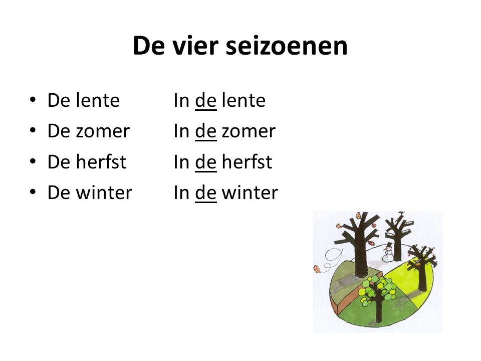 De vier seizoenen De lente In de lente De zomer In de zomer