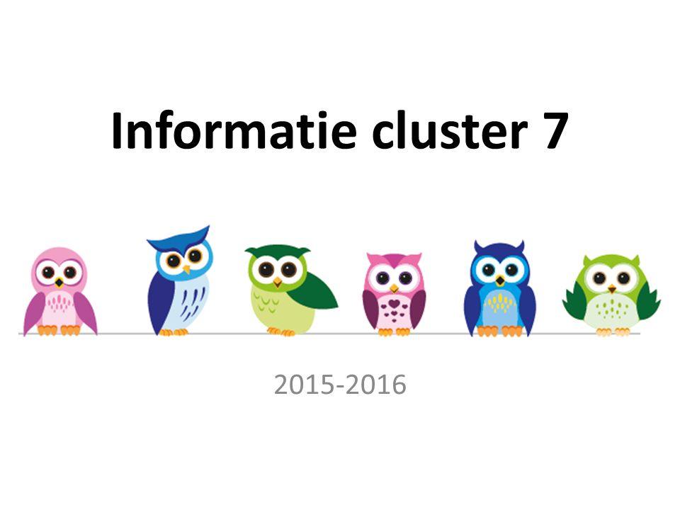 Informatie cluster 7 2015-2016