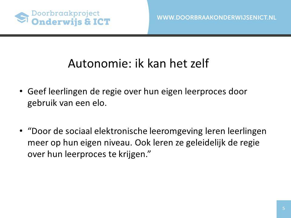 Autonomie: ik kan het zelf