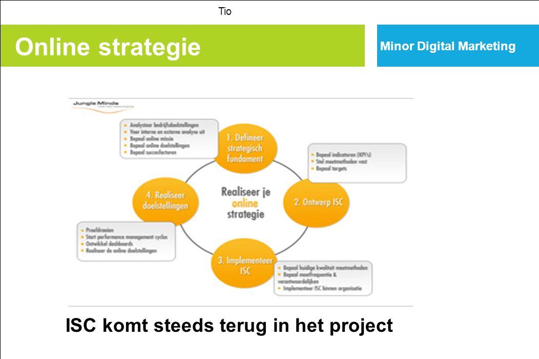 Online strategie ISC komt steeds terug in het project
