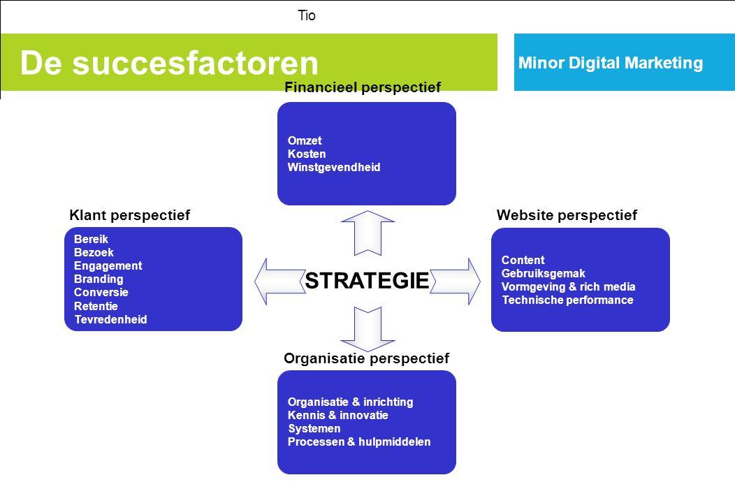 De succesfactoren STRATEGIE Minor Digital Marketing
