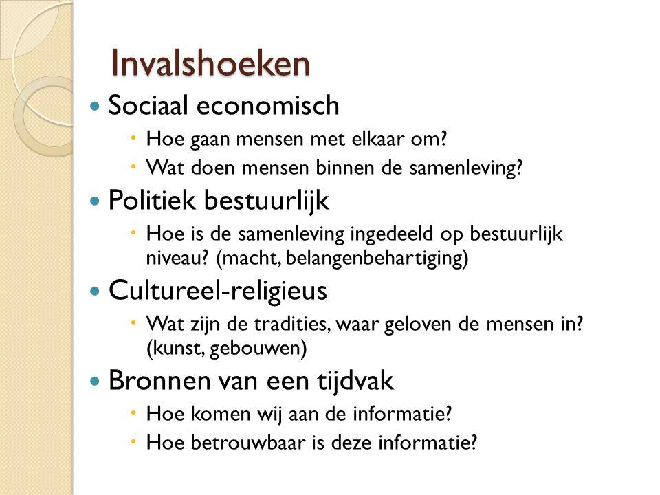 Invalshoeken Sociaal economisch Politiek bestuurlijk