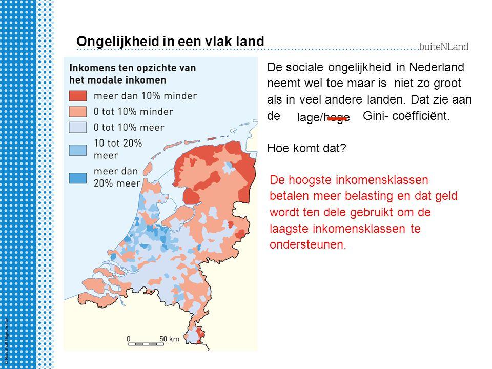 Ongelijkheid in een vlak land