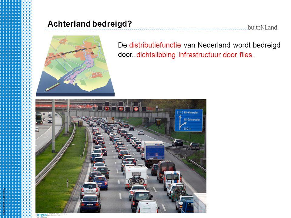 Achterland bedreigd. De distributiefunctie van Nederland wordt bedreigd door..