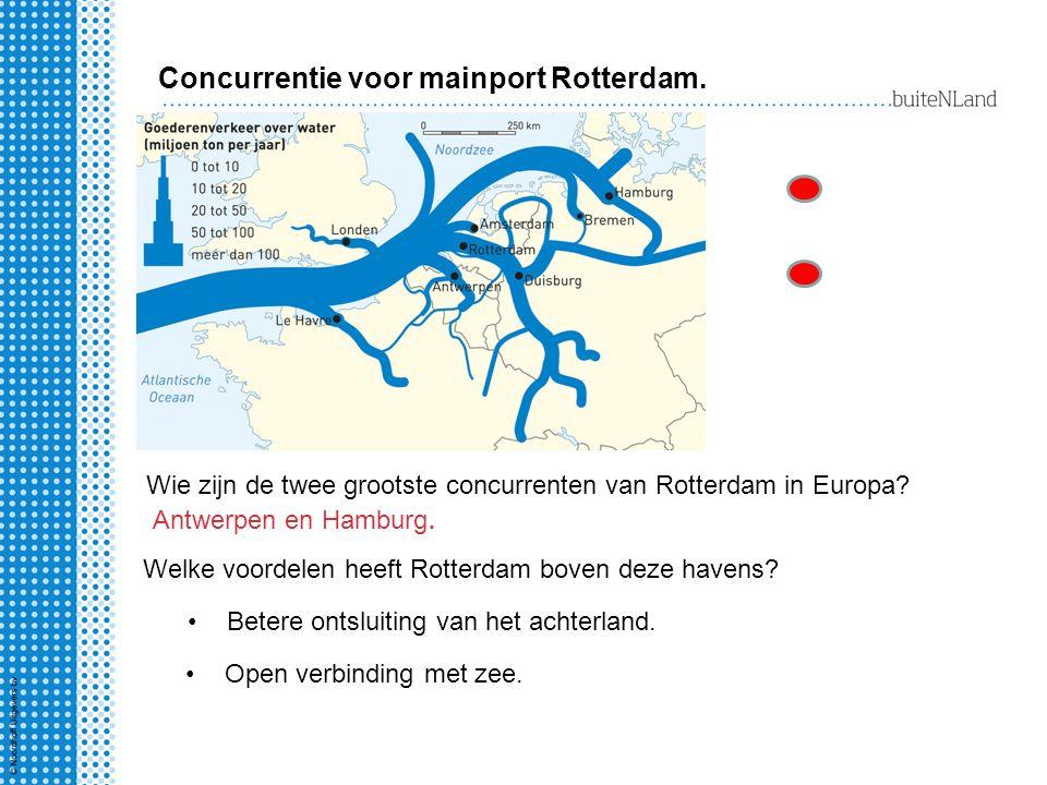 Welke voordelen heeft Rotterdam boven deze havens