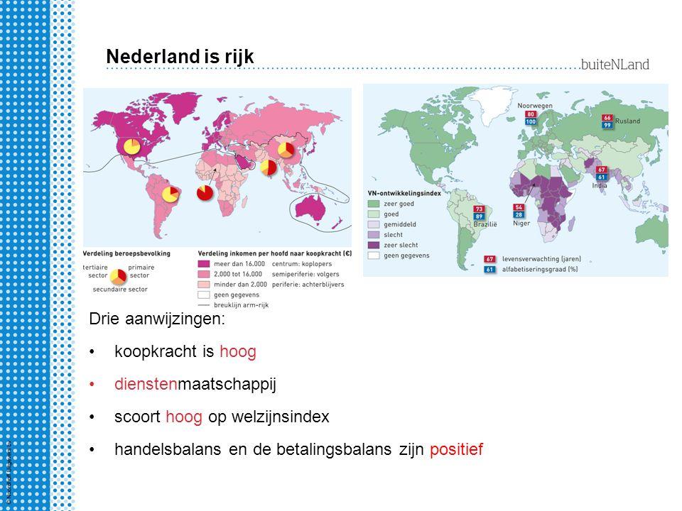 Nederland is rijk Drie aanwijzingen: koopkracht is hoog