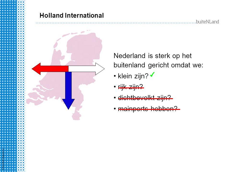 Nederland is sterk op het buitenland gericht omdat we: klein zijn
