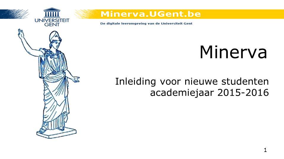 Inleiding voor nieuwe studenten academiejaar 2015-2016