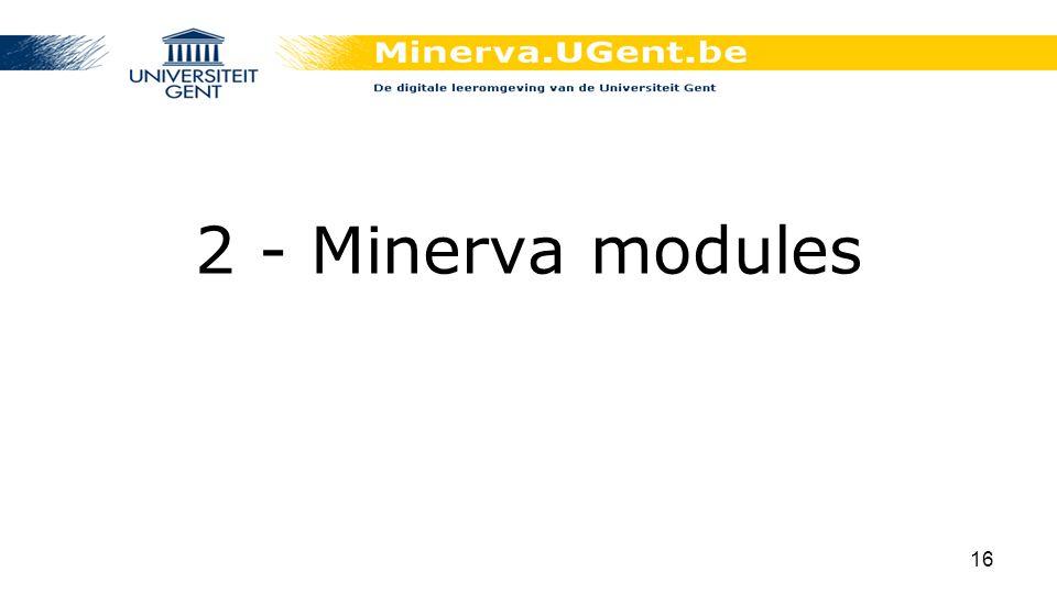 2 - Minerva modules