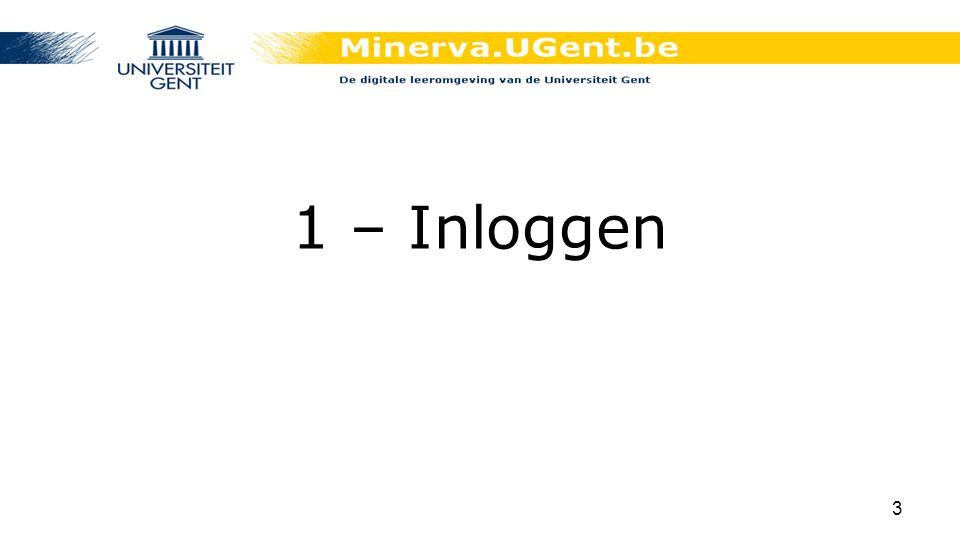 1 – Inloggen