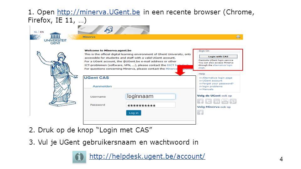 1. Open http://minerva. UGent