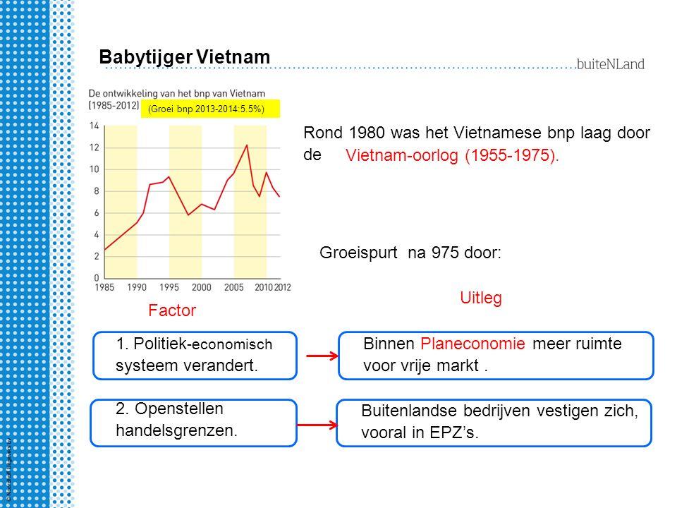 Babytijger Vietnam Rond 1980 was het Vietnamese bnp laag door de