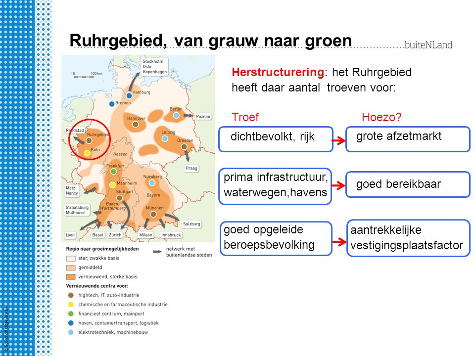 Ruhrgebied, van grauw naar groen
